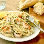 Shrimp_Scampi_Over_Pasta